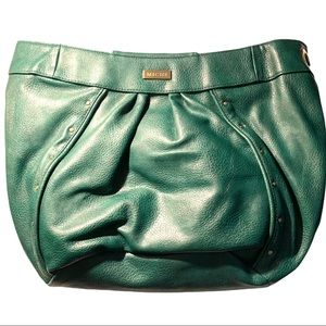 NWT Miche Purse Green with black straps